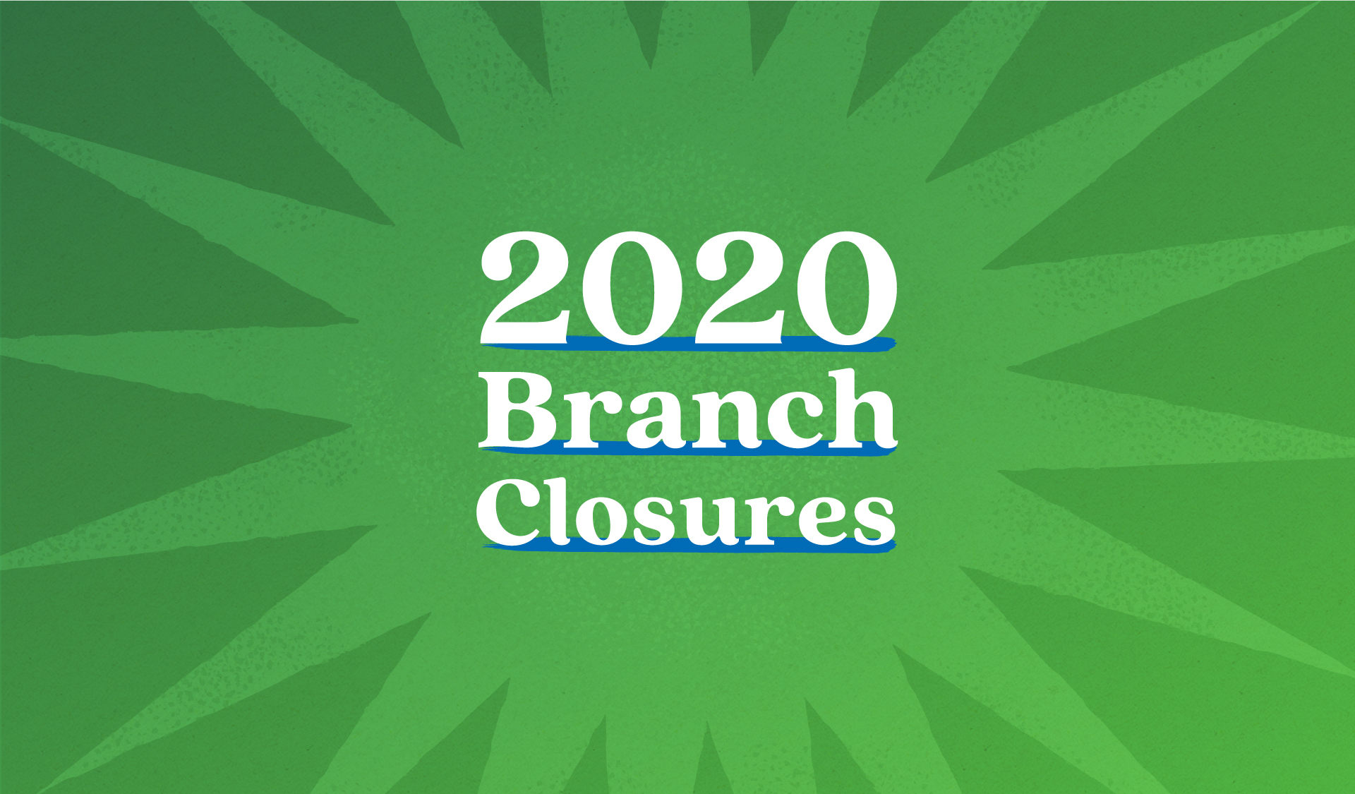2020 PEFCU Branch Closures
